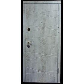 Входная дверь Оптима Бетон  пепельный Форт Нокс DL-37