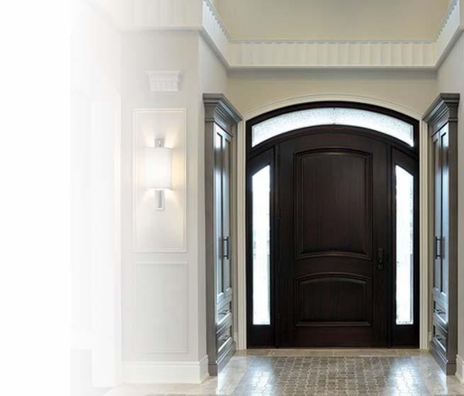 Входные двустворчатые (полуторные) двери